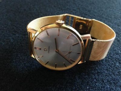 $3,500, Vintage Omega 18k Gold Mens Watch