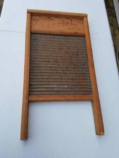 Vintage Imperial Washboard ( Tin / Wood )