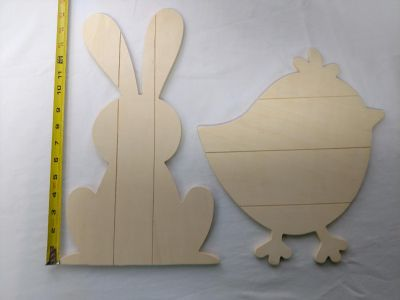 Wooden Bunny and chic crafts