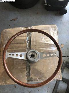 Wooden Two spoke steering wheel