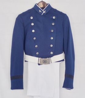 air force acadamy dress uniform full parade dress jacket sz 10r pans 9r & belt