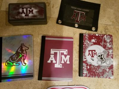 A&M school supply gift set nicely boxed for wrapping.
