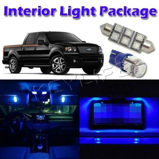 Sell 5x Blue LED Light Interior Bulb Package for 2004-2008 Ford F-150 SuperCrew Cab motorcycle in Cupertino, CA, US, for US $15.99