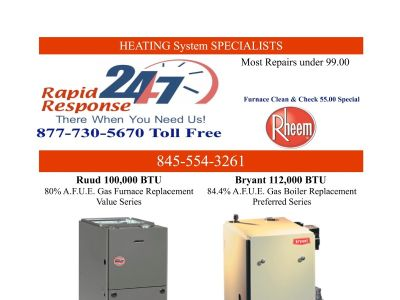 Monroe 10950 Heating FURNACE Repair Service & Installations