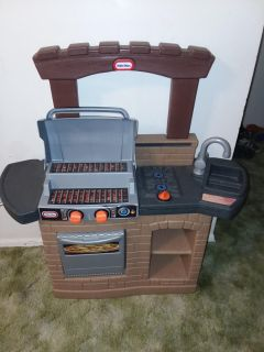 Kids little tikes play grill set like new excellent condition
