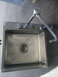 "Drop in Sink 15""x15"" W/Faucet and Basket Drain RTR#7043559-02"