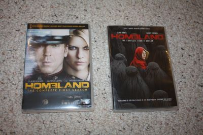 Homeland DVDs Seasons 1 and 4