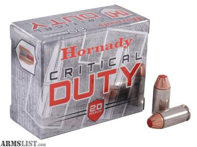 For Sale: Hornady Critical Duty .40 SW new factory fresh Law Enforcment