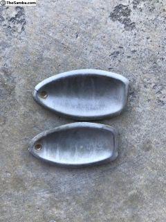 Door handle face plates