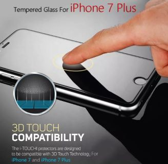 """3D Touch Premium Tempered Glass Screen Protector For Apple iPhone 7 Plus (5.5"""") Compatible for iPhone 8 Plus & iPhone 6s Plus"""