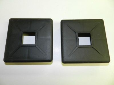 "Sell (2) 4"" x 4"" Rubber RV Camper Travel trailer Square Bumper Plug cap with vent NEW motorcycle in Springfield, Missouri, US, for US $10.00"