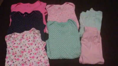 Simple Joys by Carter's 5 girls size 24 months long sleeve onesies & 2 soft pants