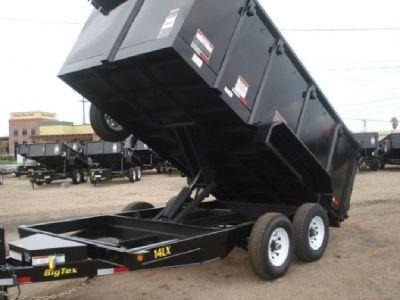 2019 Big Tex Dump Trailer GVWR 14,000 lbs, 7x14 Equipment Hauler, Bobcat Hauler, 14LX-14-4