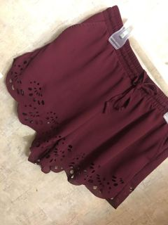 High waist perforated shorts from Sweet Tea Boutique
