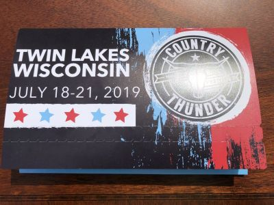 Country Thunder GA Twin Lakes WI July 18-21