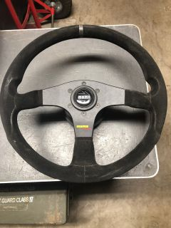 Momo Corse steering wheel with Porsche 911 hub mount