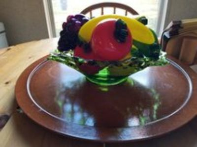 vintage fruit and bowl (all glass)