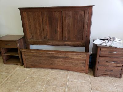 Amish made 6 piece bed set.