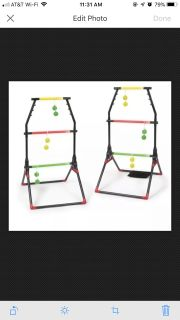 Light-Up Ladder Ball Portable Outdoor Toss Game Set Play Sports Tailgate Yard WL