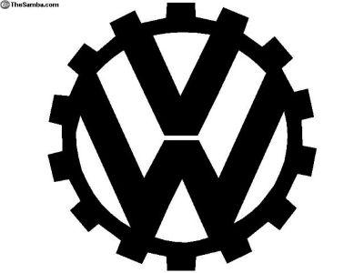 KDF Cog Vw Metal Art Emblem