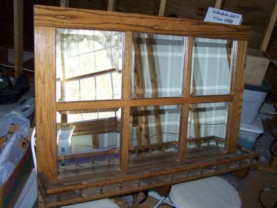 Six Beveled Mirrors Framed In Solid Oak