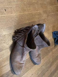 Faded glory. Brown short boots