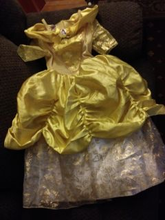 Disney Princess Belle Gown 4t/5t. Amazing quality and VGUC