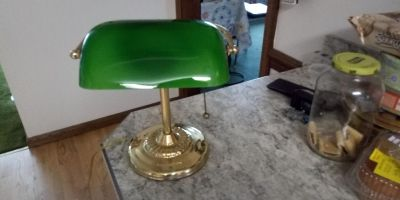 Banker or Piano lamp. Works great