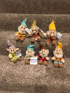 New with tags the 7 dwarf beanies from the Disney Store