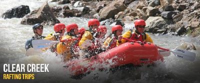 Exciting Clear creek rafting trips at Rocky Mountain Adventures