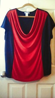 GORGEOUS CAROL ROSE BRAND TOP, SIZE 2X, IN GREAT SHAPE!!!!!!