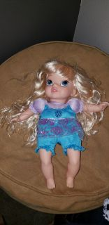 My daughter is selling her toys. Frozen doll $5, stuffed platypus. 50, book set $3, jump rope $1, dress up skirt $1