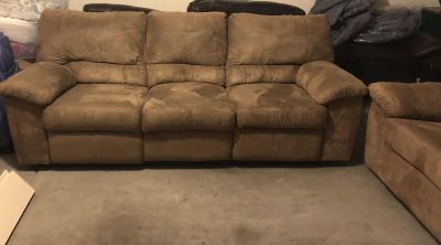 Microfiber Couch & Love Seat Recliners (Ashley s)