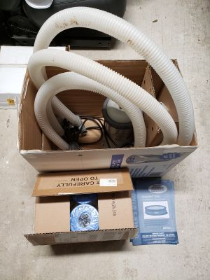 Pump, hoses, filters for Intex pool