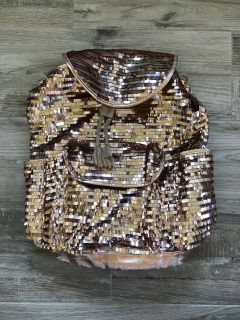 PS from Aeropostale rose gold sequin backpack