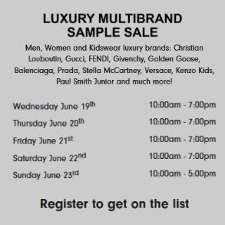 Multi Brand Sample Sales Hosted by Eclipse in Los Angeles, CA