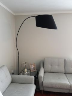 Black over the couch lamp