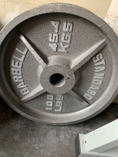 100lb Olympic weight pair-standard barbell