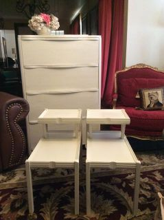 $60, 2 Tiered Vintage Modern Retro End Tables