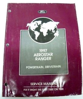 Sell 1997 FORD AEROSTAR RANGER WORKSHOP SERVICE MANUAL POWERTRAIN BODY CHASSIS SHOP motorcycle in Folsom, California, United States, for US $48.00
