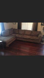 Dark brown 2 piece sectional couch