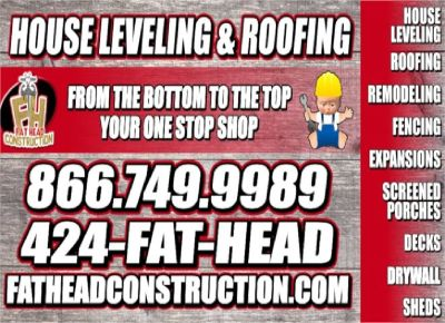 House leveling $999 Mobile Home leveling $800