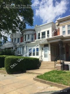Updated 3-Bedroom Row Home For Rent - 1205 S. 57th Street - Available Now!