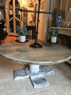 Antique Old Tavern Round Coffee Table