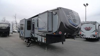 New 2016 Heartland Road Warrior RW355 toy hauler fifth wheel