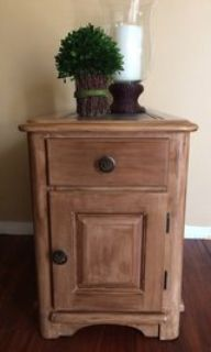 Timeless refinished wood end table side table