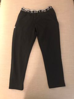 Black Under Armour Jogging Pants-Size Youth XL