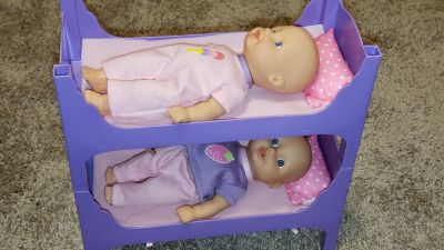 Small Baby Dolls and Bunk Beds