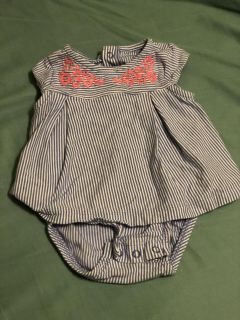 Carters 3 Month dress onesie like new