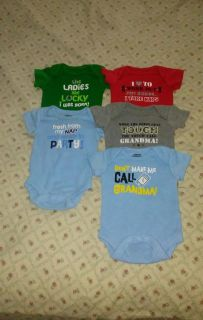 :: (5) size Newborn Garanimals brand onesies EACH WAS BOUGHT INDIVIDUAL excellent conditions BUNDLE DISCOUNT IF PURCHASE $25-$4